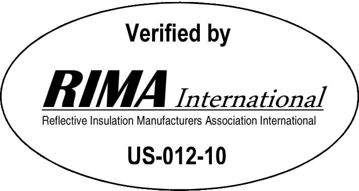 Verified by RIMA International, No. US-012-10